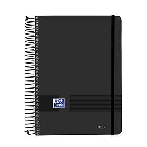 Agenda Oxford Black & Red - día página - 150 x 210 mm - castellano