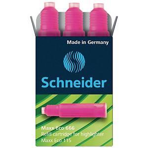Textmarkernachfüllpatrone Schneider 6669, rosa, 3 Stück