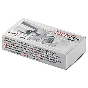 BX1000 NOVUS 24/6  STAPLES NICKEL-PLATED