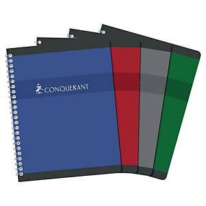 Cahier spirale Conquérant Sept 17 x 22 cm - 180 pages - quadrillé