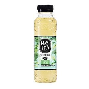 May Tea groene munt frisdrank, pak van 24 flessen van 33 cl