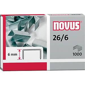 Heftklammern Novus 26/6 verzinkt 1000 Stück