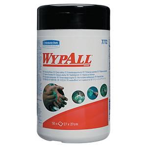 Caixa de 50 toalhetes húmidos de limpeza Wypall 7772