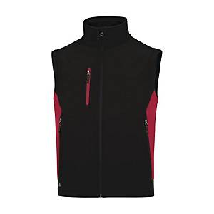 Giacca Softshell Deltaplus Mysen 2 nero/rosso tg S