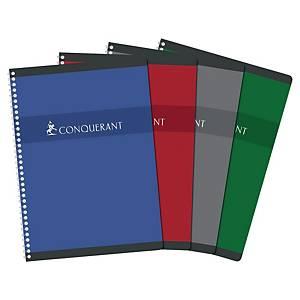 Cahier spirale Conquérant Sept A4 - 100 pages - quadrillé
