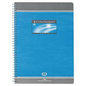 Cahier spirale Conquérant Sept A4 - 180 pages - quadrillé