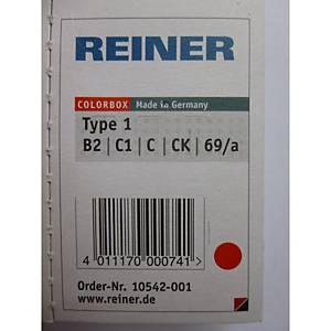 Reiner B2 navulling Color Box nummerstempel type 1, rood