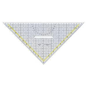 TZ-Dreieck Aristo AR1648/2, mit Griff, 360 Grad, Hypotenuse 325mm, transparent