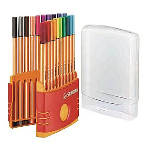 STABILO Point 88 Fineliner Pen 0.4mm - Set of 20 Colours