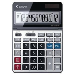 Calcolatrice da tavolo Canon TS-1200TSC, display a 12 cifre, argento