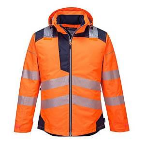 Parka d'hiver Portwest T400, orange hi-viz/bleu marine, taille 3XL, la pièce