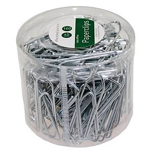 PK100 PAPERCLIP 45MM SILVER