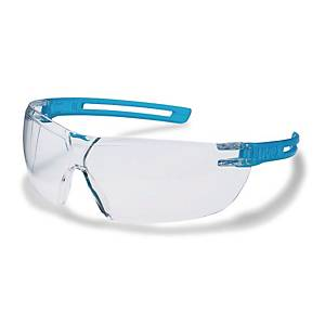 Skyddsglasögon Uvex X-fit, klar lins, blå