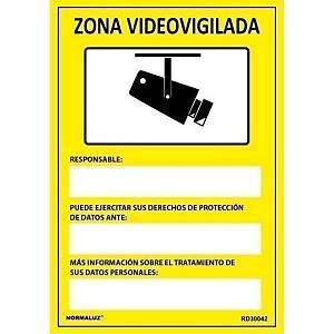 Placa  cámara de vigilancia  -  PVC - 297 x 210 mm