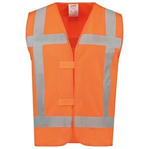 Tricorp V-RWS hi-viz waistcoat orange - size M/L