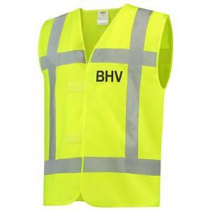 Tricorp V-RWS BHV hi-viz fluohesje, fluo geel, maat XL/XXL, per stuk