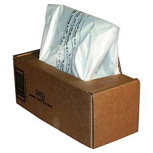 Sacs poubelle Fellowes 36054 pour broyeur papier, 53/75 litres, le paquet de 50
