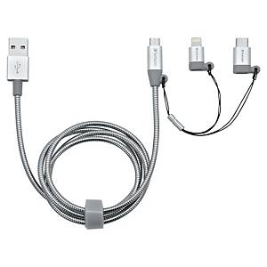 Verbatim 3 in 1 (USB-C, Lightning, USB Micro-B) Sync- und Ladekabel