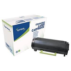 Toner Lyreco kompatibel mit Lexmark 50F2000, Reichweite: 1.500 Seiten, schwar
