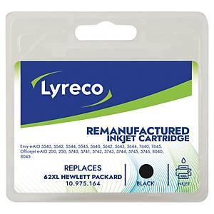 LYRECO kompatible Tintenpatrone HP 62XL (C2P05AE) schwarz