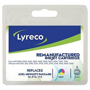 LYRECO kompatible Tintenpatrone HP 62XL (C2P07AE) 3-farbig C/M/G