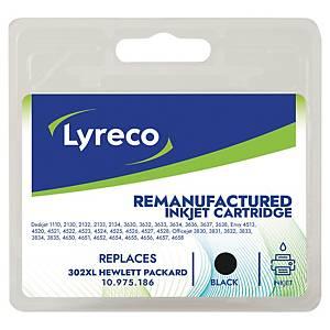 Cartouche d encre Lyreco compatible équivalent HP 302 XL - F6U68AE - noire