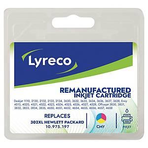 Cartouche d encre Lyreco compatible équivalent HP 302 XL - F6U67AE - 3 couleurs