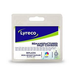 Lyreco compatible HP F6U67AE cartouche jet d encre nr.302XL couleur [330 pages]