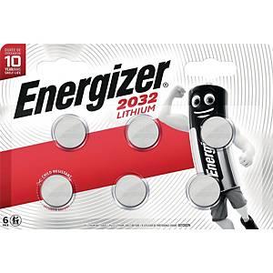 Knopfzelle Energizer CR2032, Lithium, 3V, 6 Stück