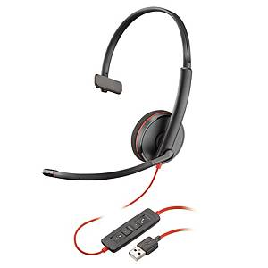 Headset Plantronics Blackwire 3200, Kabelgebunden, schwarz