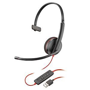 Casque Plantronics Blackwire 3210, Mono/Stereo, filaire, noir