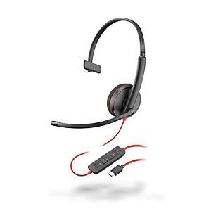 [직배송]플랜트로닉스 C3210 블랙와이어 USB 모노 헤드셋