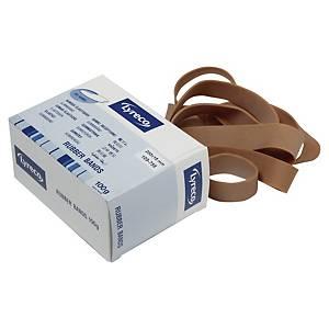 Elastikker Lyreco, 200 x 18 mm, brun pakke a 100 g