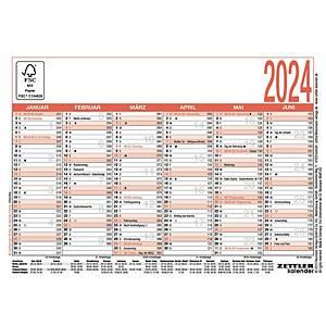 Tafelkalender 2021 Zettler 900, 6 Monate / 1 Seite, A6