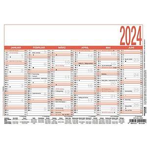 Tafelkalender 2020 Zettler 904, 6 Monate / 1 Seite, A5