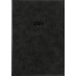 Buchkalender 2021 Zettler 876, 1 Tag / 1 Seite, 15 x 21cm, schwarz