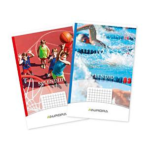 Aurora notebook stapled 125x195 mm squared 5x5 mm 40 pages