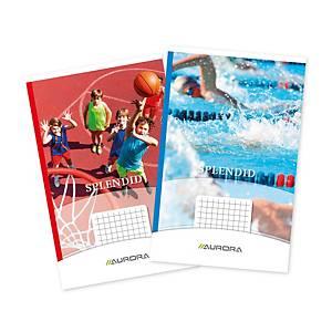 Aurora geniet notitieboekje 125 x 195 mm, geruit 5 x 5 mm, 40 vellen