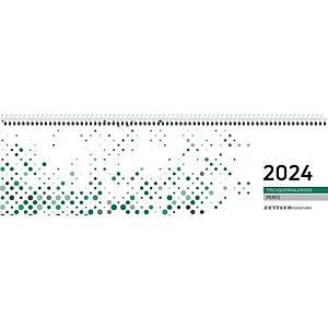 Tischquerkalender 2020 Zettler 130, 1 Woche / 2 Seiten, 31,5x10cm, grün