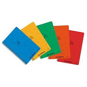 Aurora spiraal notitieboekje 105 x 160 mm, geruit 5 x 5 mm, 60 vellen