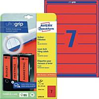 Ordner-Etiketten Avery Zweckform L4762-20 kurz / schmal rot 20 Bogen/140 Stück