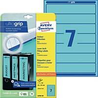 Ordner-Etiketten Avery Zweckform L4763-20 kurz / schmal blau 20 Bogen/140 Stück