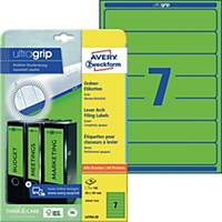 Ordner-Etiketten Avery Zweckform L4764-20 kurz / schmal grün 20 Bogen/140 Stück