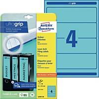 Ordner-Etiketten Avery Zweckform L4767-20 kurz / breit blau 20 Bogen/80 Stück