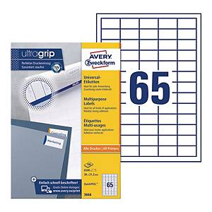Avery 3666 Multi-Purpose Labels, 38.1 x 21.2 mm, Permanent, 65 Labels Per Sheet