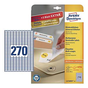 BX6750 ZWF 4730 L+C LABELS 17,8X10MM WH