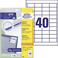 Univerzálne etikety Avery, 4780, 48 x 25,4 mm, 40 etikiet/hárok