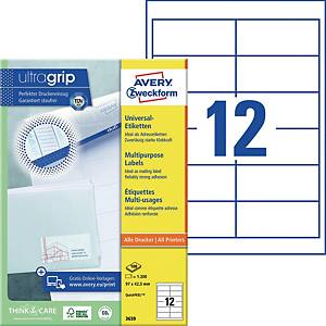 Universal-Etiketten Avery Zweckform 3659 97x42,3mm weiß 100 Blatt/1.200 Stück