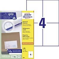 Univerzálne etikety Avery,3483, 105 x 148 mm, 4 etikety/hárok