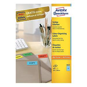 Avery 3457 Labels, 105x148mm, blue, 400 labels/pack